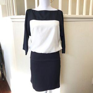 LOFT Navy & White color block dress size 0